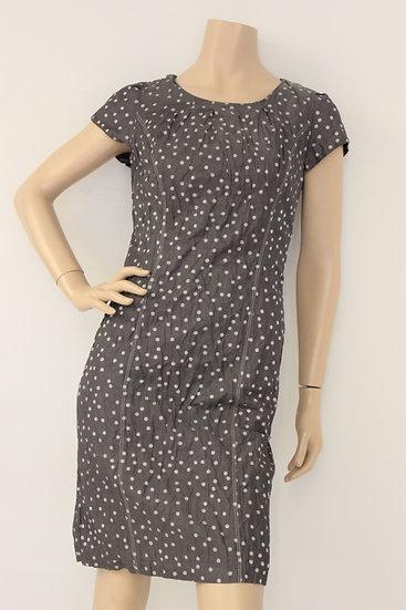Gerry Weber - Grijze jurk met stippen, maat 36/38