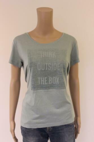 Tramontana - groengrijs t-shirt, maat M (maat 38/maat 40)