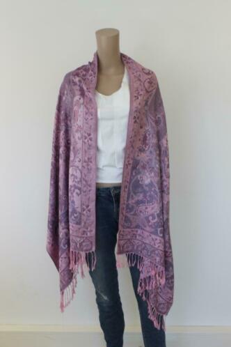Pashmina lila/roze sjaal