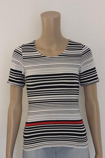 Joop! - Blauw/wit gestreept t-shirt, maat 36
