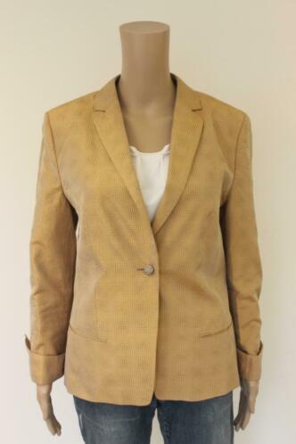 René Lezard - goudkleurig zijden jasje, maat 40