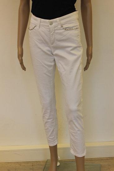 Cambio - witte superstretch broek, maat 36