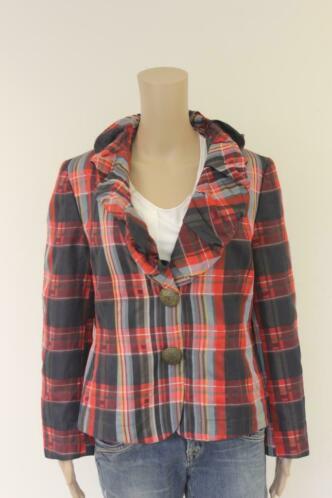 Marcona - rood/zwart/grijs jasje, maat 42