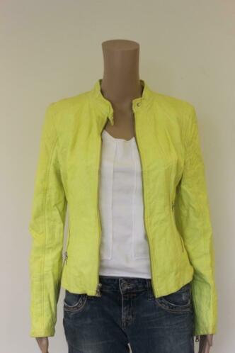 Guess leatherlook geel jasje maat M