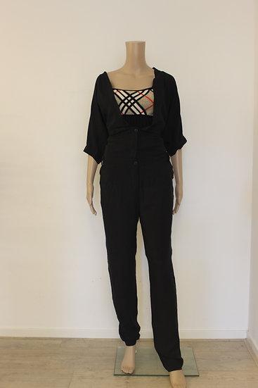 Denham - Zwarte jumpsuit, maat 36/38