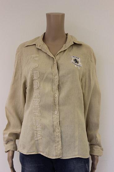 L' Argentina beige blouse maat 44