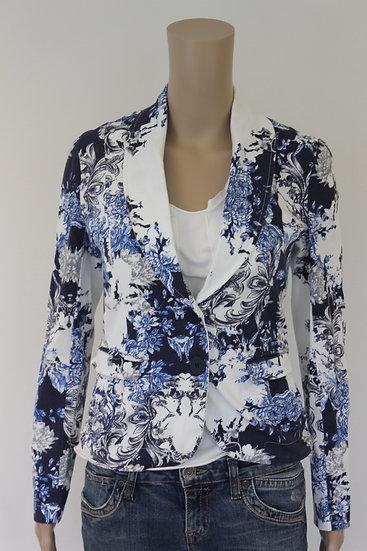 Transfer - blauw/wit jasje, maat 40
