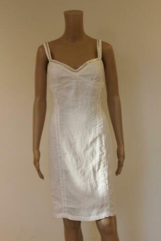 Orwell witte linnen jurk maat 38