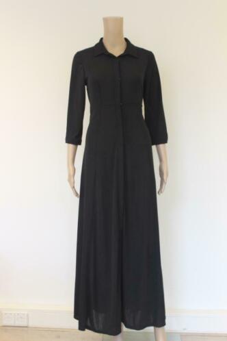 Fifilles zwarte lange jurk maat 2 (maat 38)