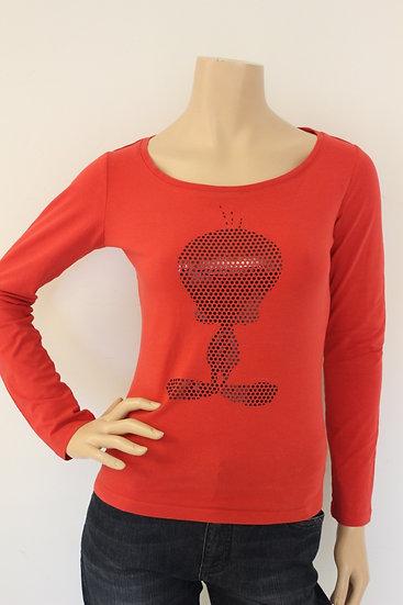 Iceberg - Rood T-shirt met Tweety opdruk, maat 36/38
