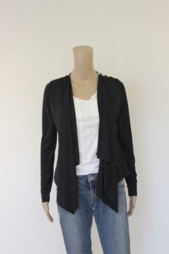 Ana Alcazar - zwart vestje met bonte rug, maat 36