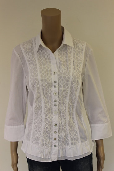 Just White witte blouse maat 40