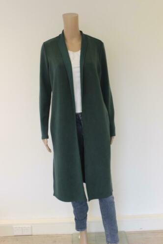 Yaya - groen lang vest, maat S (maat 36)