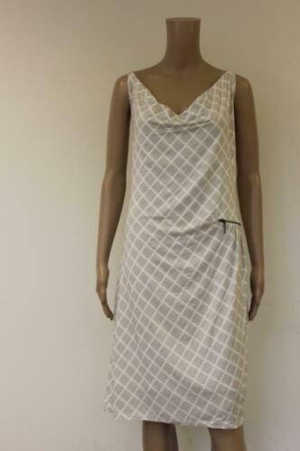 Expresso beige/roomwitte jurk maat XXL (maat 46)