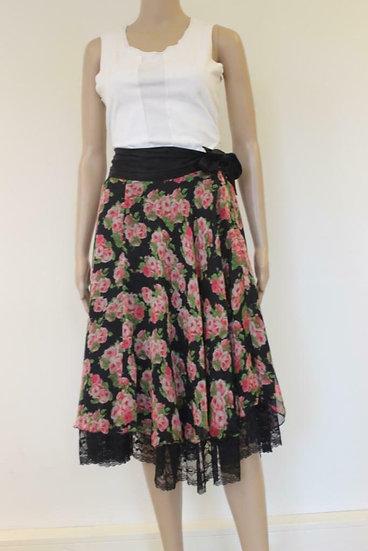 Tricot Chic - Zwarte rozenrok, maat 40