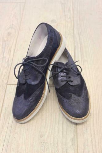 Manfield - blauwe schoenen, maat 40