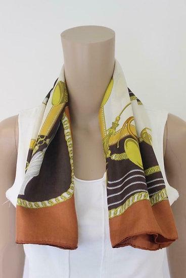 Roestbruine zijden sjaal