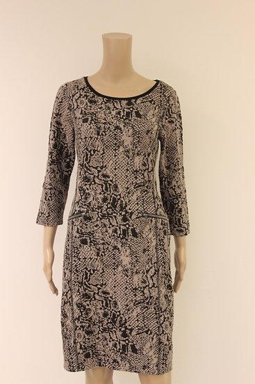 Rozes of Avalon - Beige/zwarte jurk, maat 42