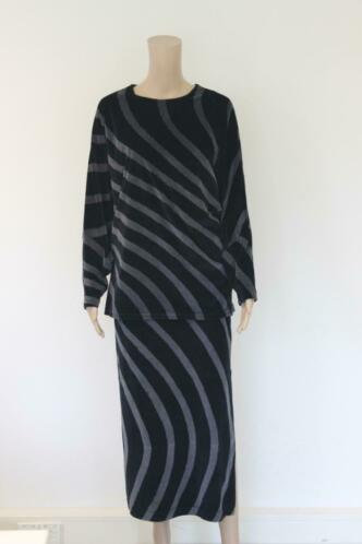 Chacok grijs/zwarte set van rok en top maat T1 (maat 36)