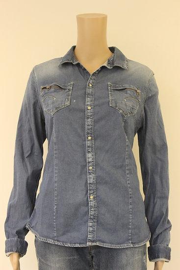 G-star - blauwe spijkerblouse, maat L (maat 40/maat 42)