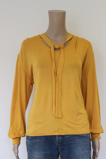 Amichi - okergeel t-shirt, maat M (maat 38/maat 40)