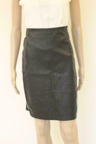 Aaiko - zwarte leatherlook rok, maat M (maat 38/maat 40)