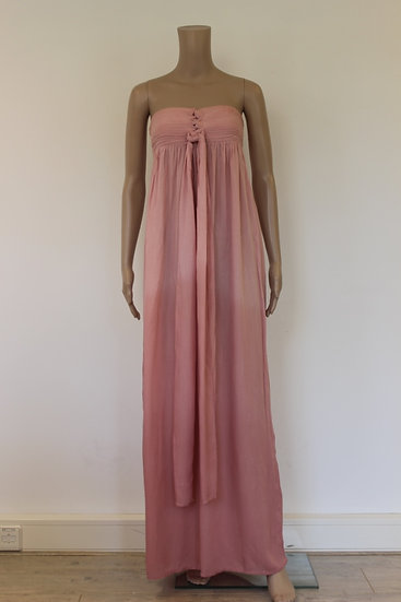 Hot Lava - roze strapless jurk, maat XS (maat 34)