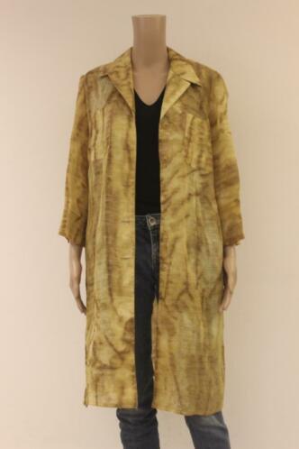 Sandy Dress - goudgeel lang jasje, maat 42