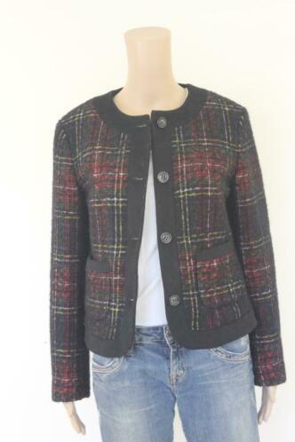 GANT - zwart/rood/wit geruit jasje, maat 38
