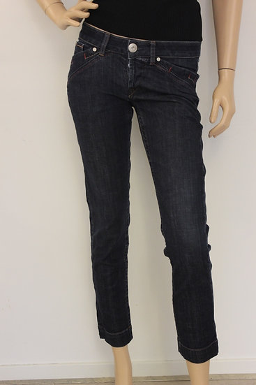 Girbaud - Donkerblauwe 7/8e jeans, jeansmaat 29