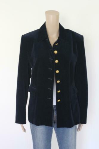 Pride donkerblauw velours jasje maat 44