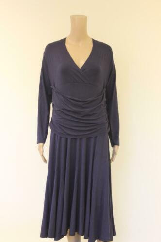 Juffrouw Jansen - donkerblauwe jurk, maat XXL (maat 44/46)