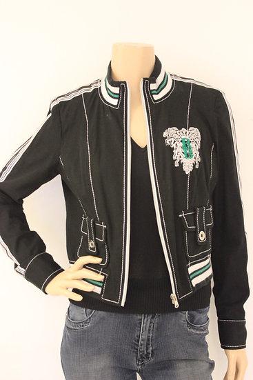 Roccobarocco zwart/wit/groen sportief jasje maat 38