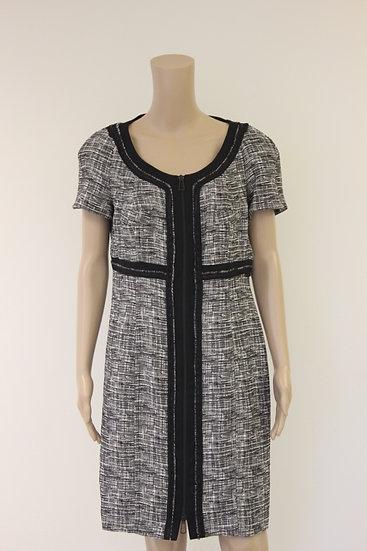 Jean Paul - Zwart/witte jurk, maat 42