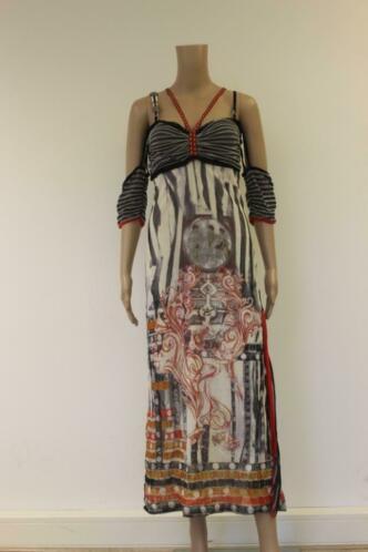 Save the Queen bonte jurk maat L (maat 42)