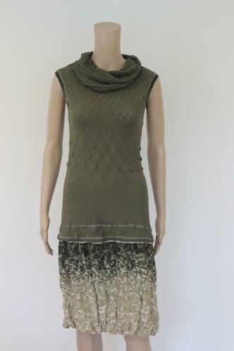 Beate Heymann - groene jurk, maat M (maat 36/maat 38)