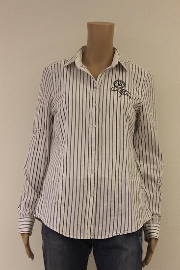Gaastra - grijs/witte blouse, maat L (maat 40/maat 42)