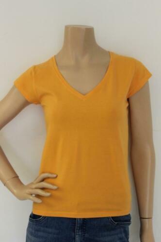 Steppin' Out oranje t-shirt maat L