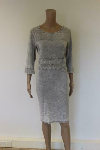 Object grijze jurk maat L (maat 40/maat 42)