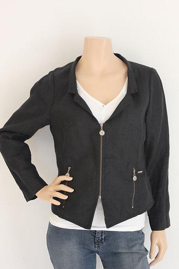 Elton zwart linnen jasje maat 38