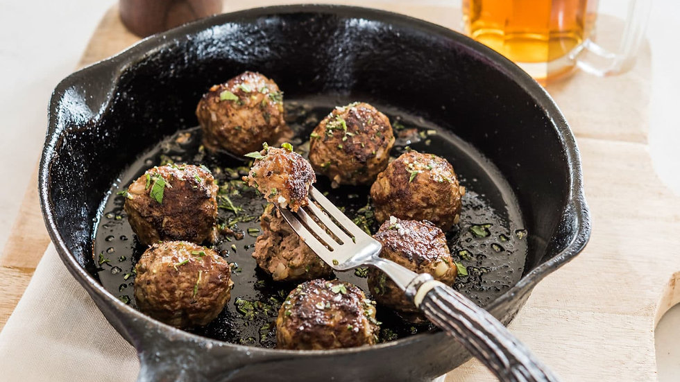 6 x Large Gluten Free Beef Meatballs