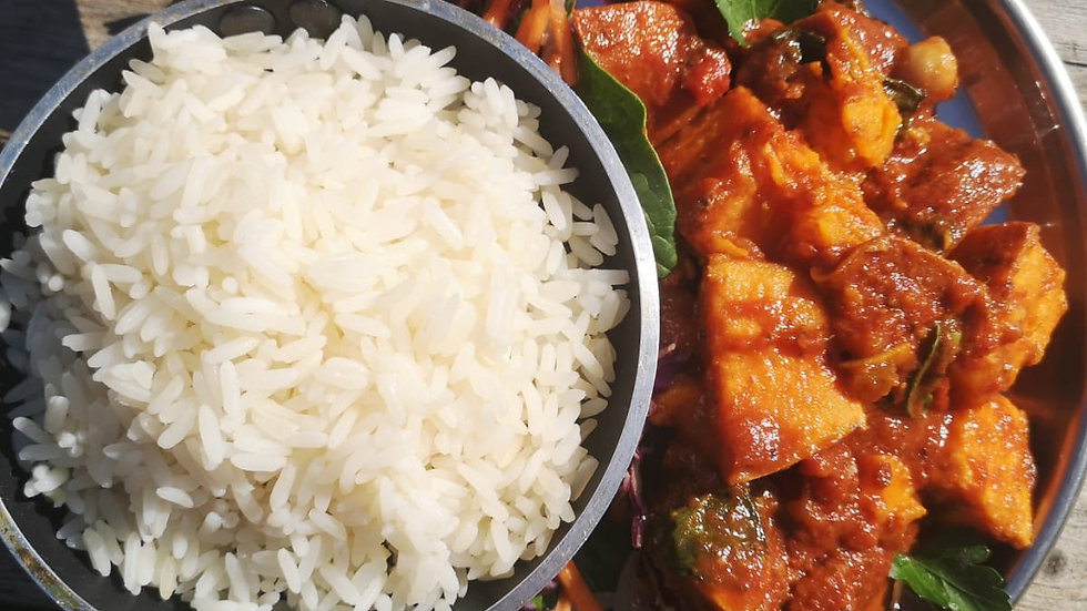 Sweet Potato Tagine (V) and Rice