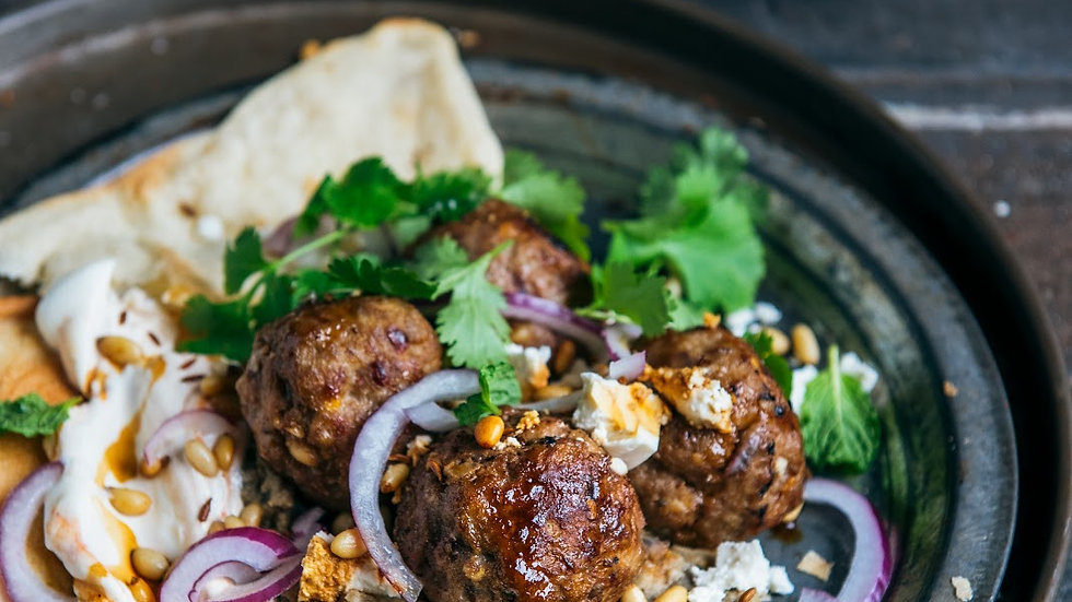 6 x Large Lamb and Mint Meatballs