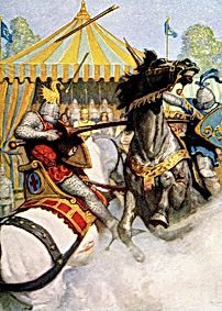 1200s-two-jousting-medieval-knights-vint