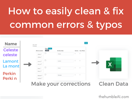 How to easily clean and fix common errors and typos in Excel