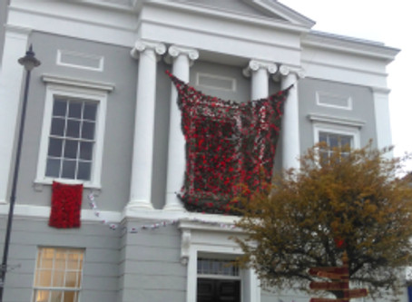 Suffolk town's astonishing decorations for Remembrance Day
