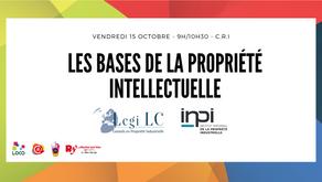Vendredi 15 octobre - Atelier Les bases de la propriété intellectuelle.