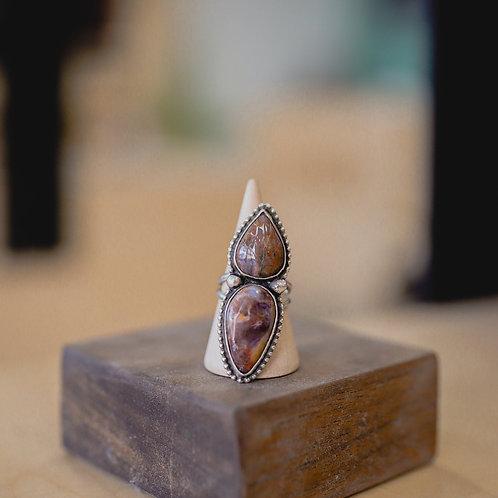 silver tiffany stone ring 7.5