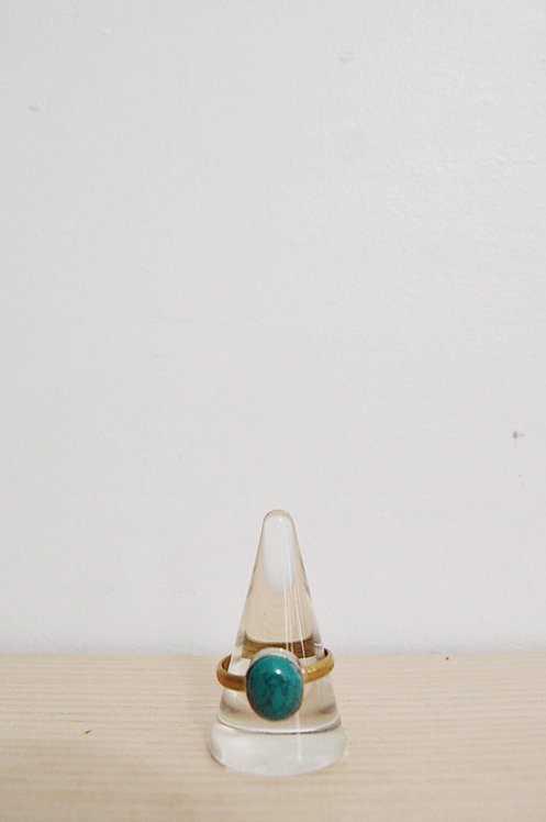 silver + brass // turquoise // 11.75