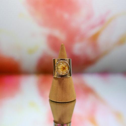 silver resin flower sheet ring 5
